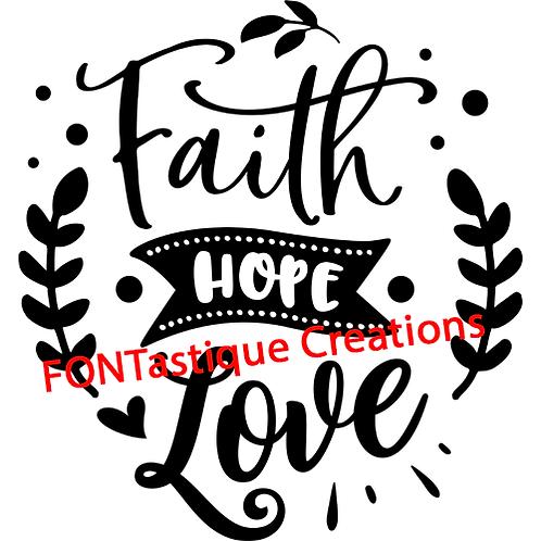 """Faith Hope Love (12""""x12"""")"""