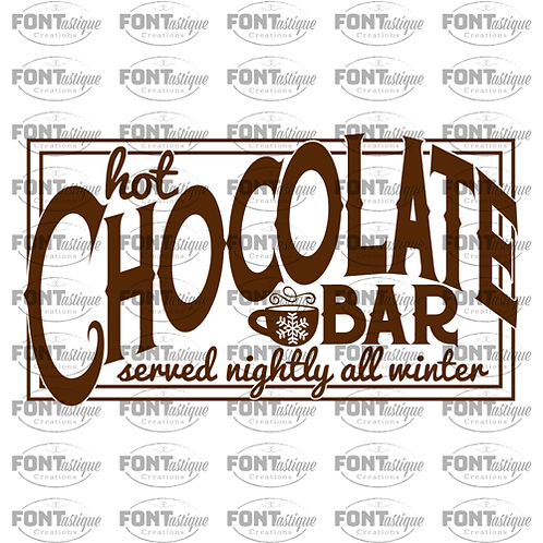 "Hot Chocolate Bar (12""x24"")"
