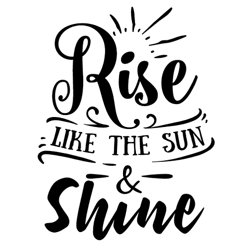 "Rise like the Sun (12""x12)"