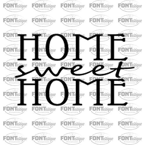 "Home Sweet Home (12""x12"")"