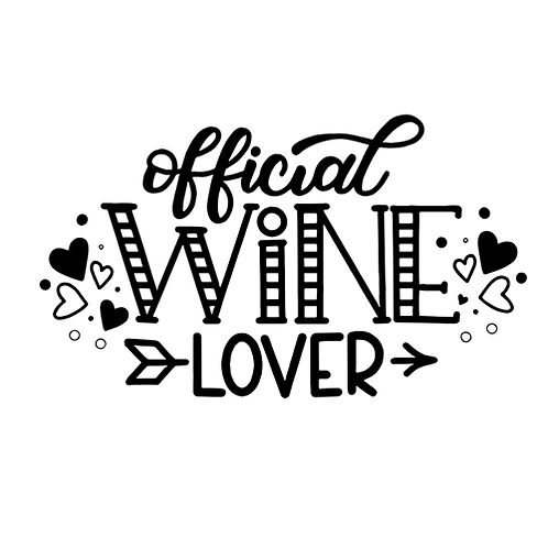 "Official Wine Lover (12""x18"")"
