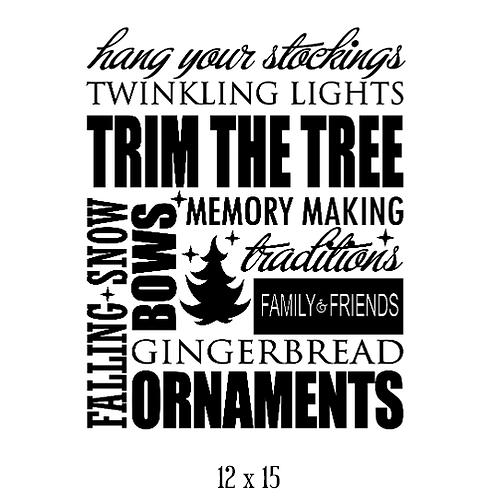 "Hang your Stockings (12""x 15"")"