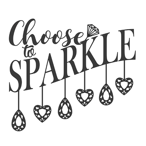 "Choose to Sparkle (12""x12"")"
