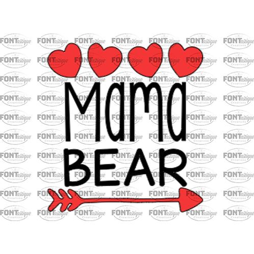 """Mama Bear  (12""""x12"""")"""