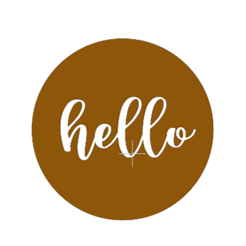"Front Door Hanger (15"") - hello"