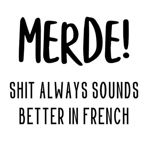 """MERDE, Shit always sounds better in French (12""""x 12"""")"""