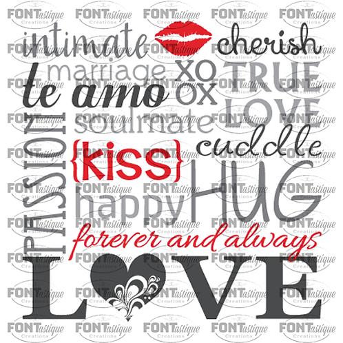 """Intimate Cherish Love Subway (12""""x12"""")"""