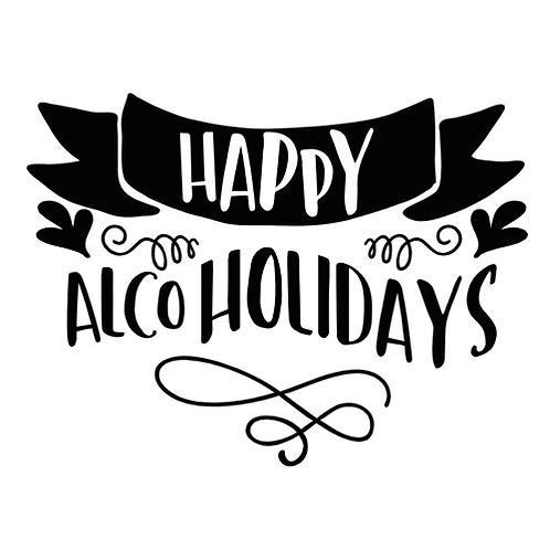 """Happy Alco Holidays (12""""x15"""")"""
