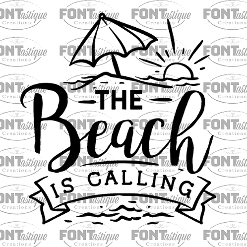 "Beach is Calling (12""x12"")"