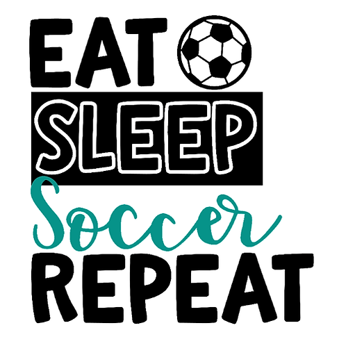 "Eat Sleep Soccer Repeat (12""x12"")"