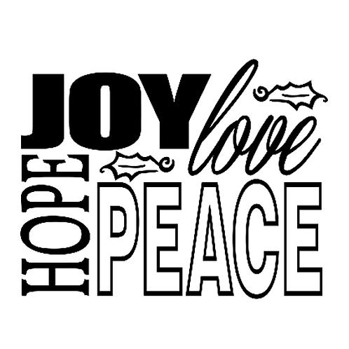 "Joy, Love, Hope, Peace (12""x 12"")"