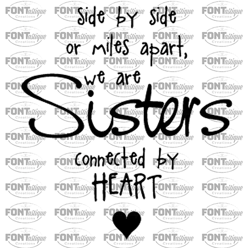 """Side by Side Sisters (12""""x12"""")"""