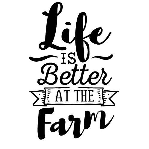 "Life Better at the Farm (12""x12)"