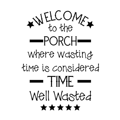 "Welcome to Porch (12""x24"")"