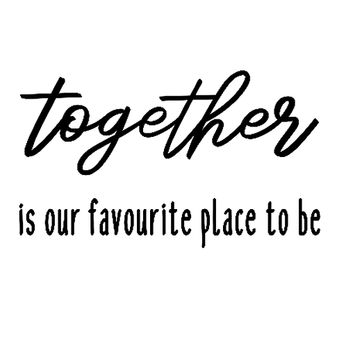 """Together is our favourite place to be (12""""x12"""")"""