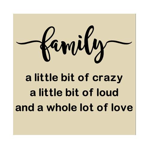 "Family - a little bit of crazy (12""x12"")"