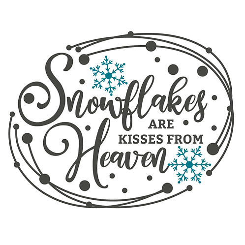 """Snowflakes are Kisses from Heaven (1) (12""""x 12"""")"""