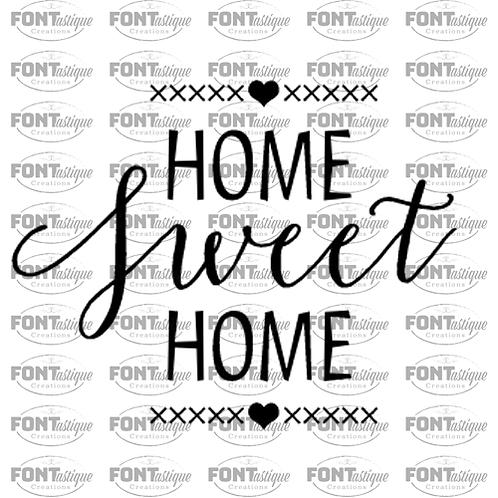 "Home Sweet Home hearts (12""x12"")"