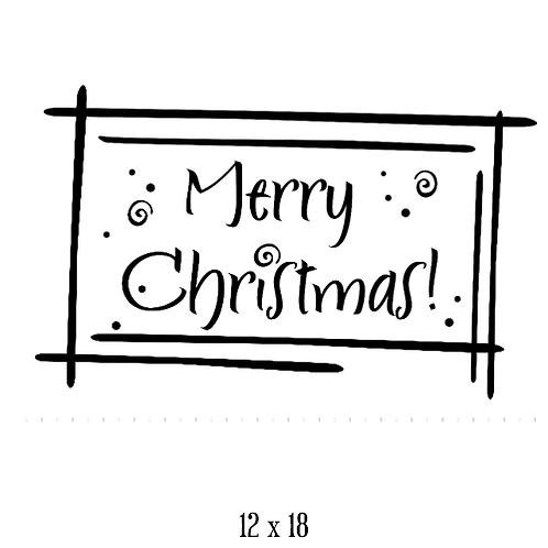 """Merry Christmas - swirls (12""""x 18"""")"""