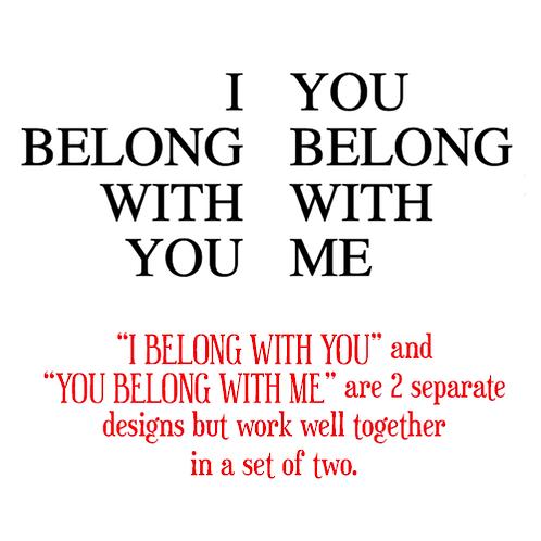 "I  Belong / You Belong (12""x12"")"