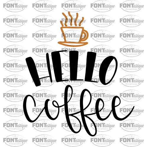 "Hello coffee (12""x12"")"