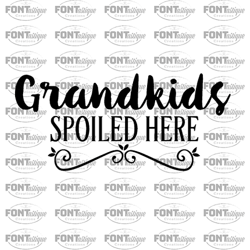 "Grandkids spoiled here  (12""x24"")"