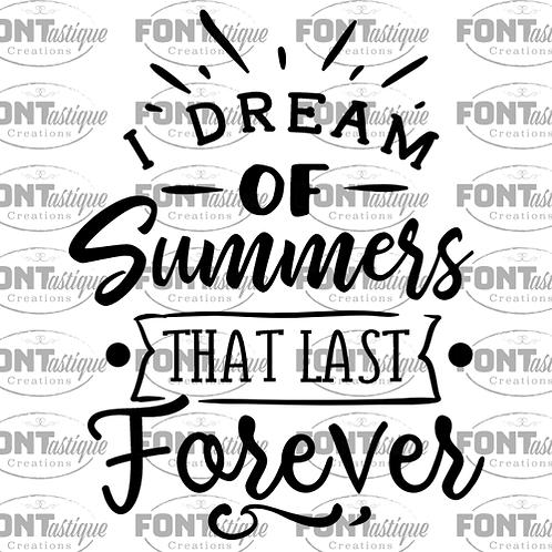 "I dream of summers (12""x12)"