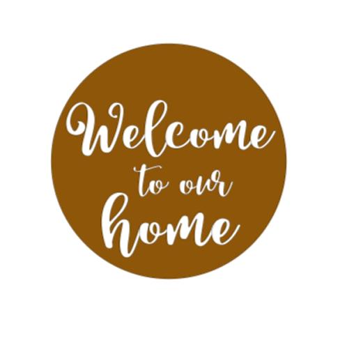 "Front Door Hanger (15"") - Welcome to our home"