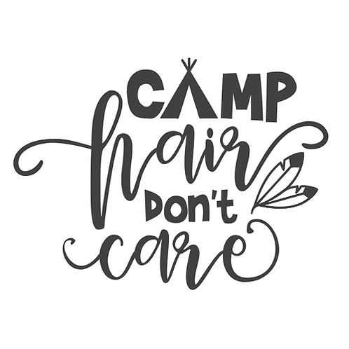 "Camp Hair Don't Care (tent) (12""x 12"")"