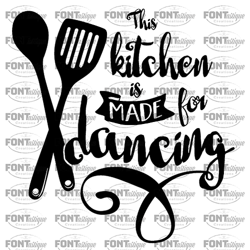 "This Kitchen is made for dancing (12""x12"")"
