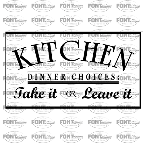 "Kitchen Dinner Choices (12""x24"")"