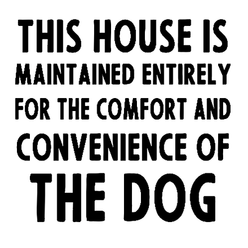 "This house is maintained ... THE DOG (12""x 12"")"