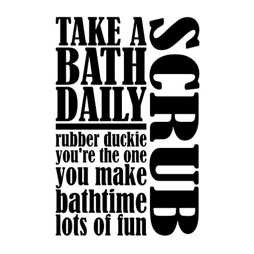"""Bathroom - Scrub (12""""x12)"""