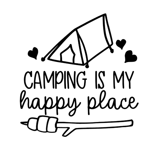 "Camping is my happy place (12""x12"")"