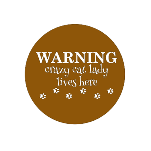 """Front Door Hanger (15"""") - Warning crazy cat lady"""
