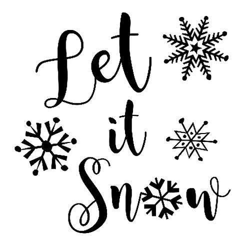 "Let it Snow (12""x 12"")"