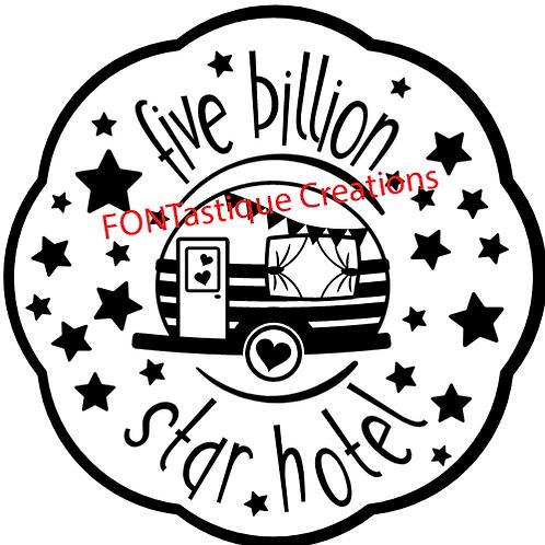 "Five Billion Star Hotel  (12""x 12"")"
