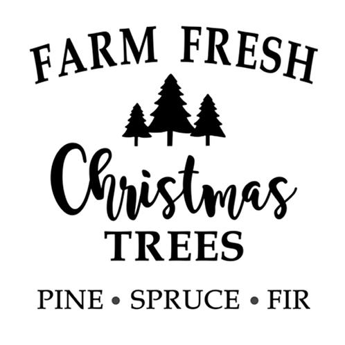 """Farm Fresh Christmas Trees (12""""x 12"""")"""