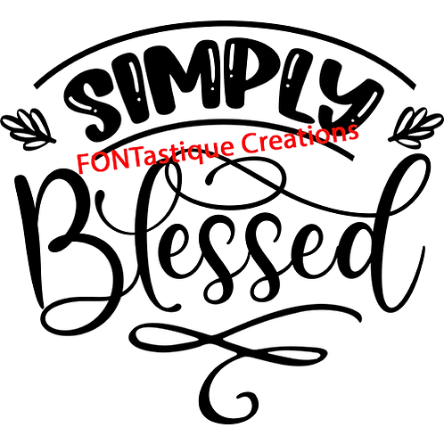 """Simply Blessed (12""""x12"""")"""