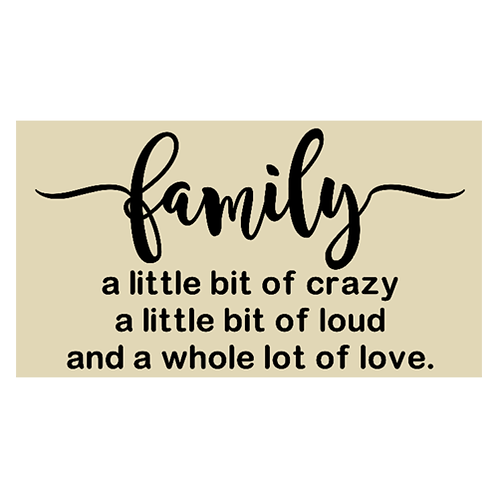 "Family, a little bit of crazy (12""x20"")"