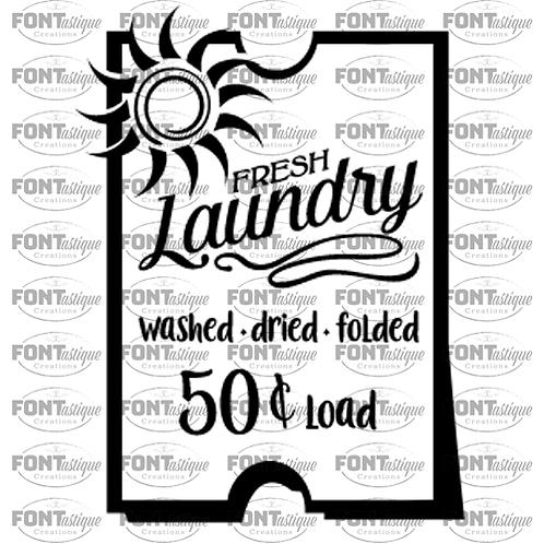 "Fresh Laundry (12""x18"")"