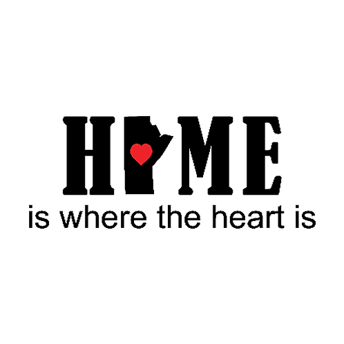 "Home is where the heart is (MB) (12""x24"")"
