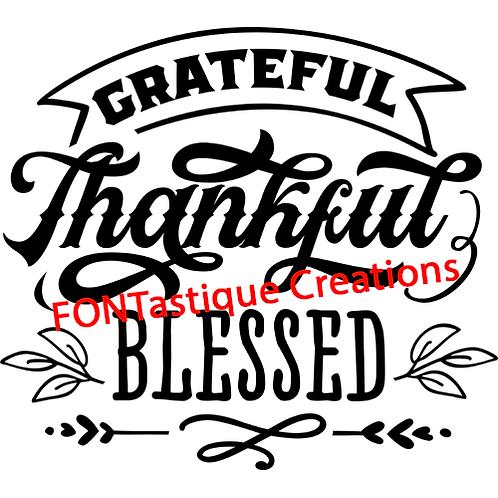 "Grateful Thankful Blessed (12""x12"")"