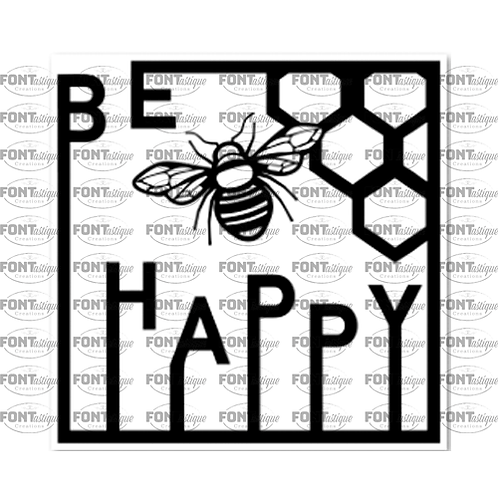 """Be Happy (with border)  (12""""x 12"""")"""