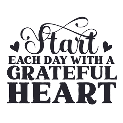 "Start each day with a grateful heart (12""x12"")"