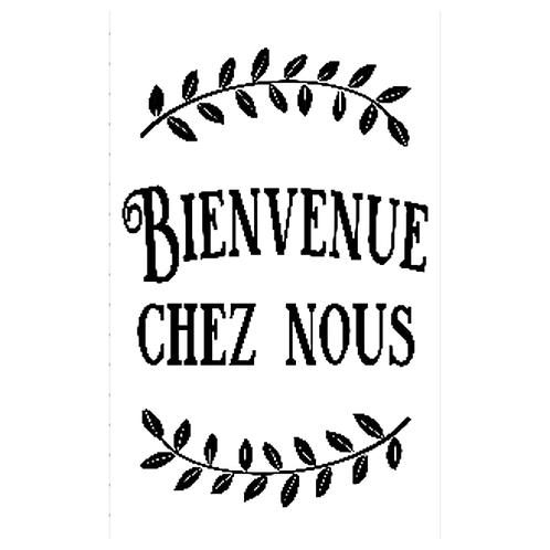 """Bienvenue chez nous - vertical (12""""x15"""")"""