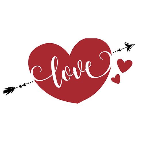"""Love heart (12""""x12"""")"""