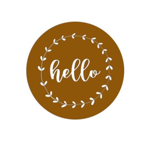 """Front Door Hanger (15"""") - hello wreath"""