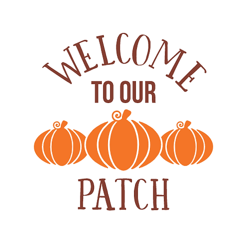 "Welcome to our Patch  (12""x 12"")"