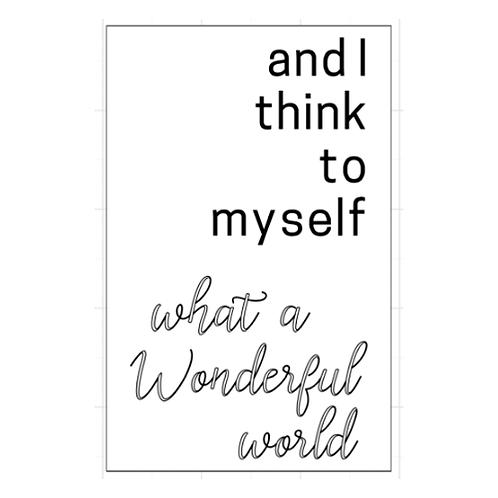 "And I think to myself - wonderful world  (12""x 18"")"